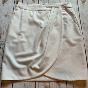White Trina Turk Wrap Skirt Size 2